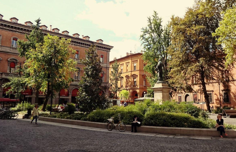 Park w centrum Bolonii