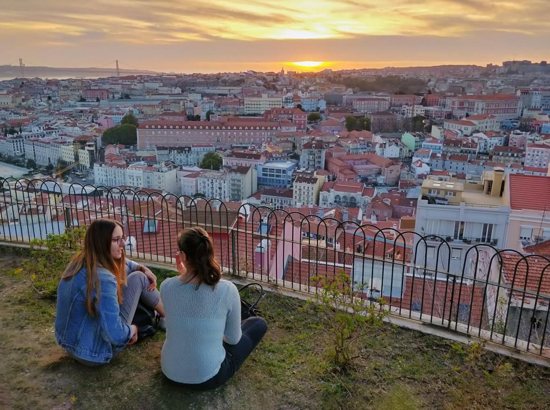 Lizbona punkty widokowe Miradouro Sophia de Mello Breyner Andresen co zwiedzic i zobaczyc w Lizbonie weekend
