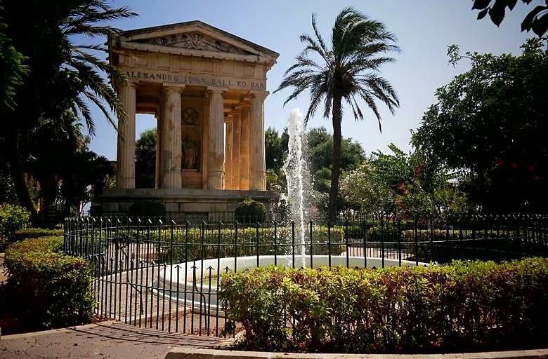 Ogrody Barrakka Valetta Malta