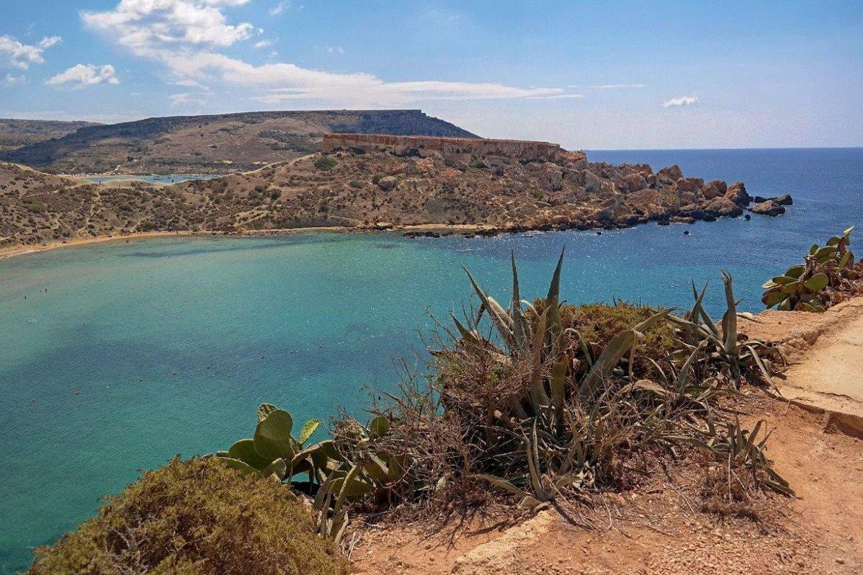 Għajn-Tuffieħa-Bay-Malta  Co zwiedzić i zobaczyc na malcie zwiedzanie malty blog