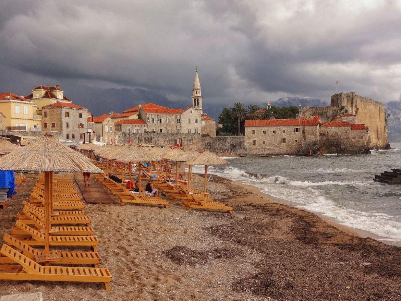 Budva Plaża Ster miasto Czarnogóra