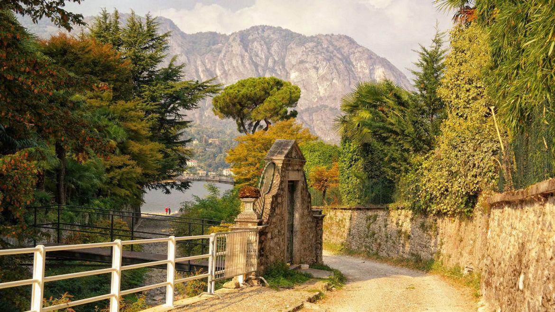 Bellagio Jesień włochy jezioro Como lecco varenna bellagio