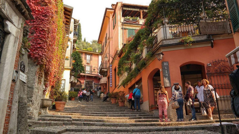 Bellagio Sklepy Uliczki Włochy lecco varenna bellagio