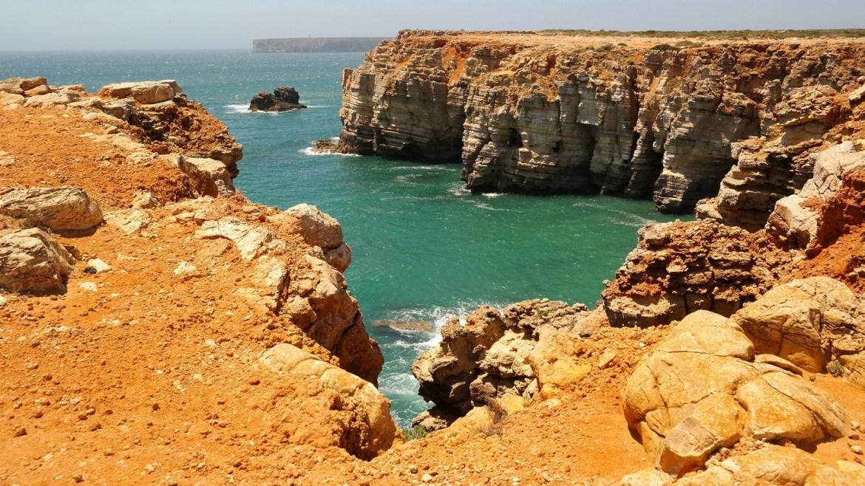 Okolice Sagres Klify Algarve zachodnie Portugalia