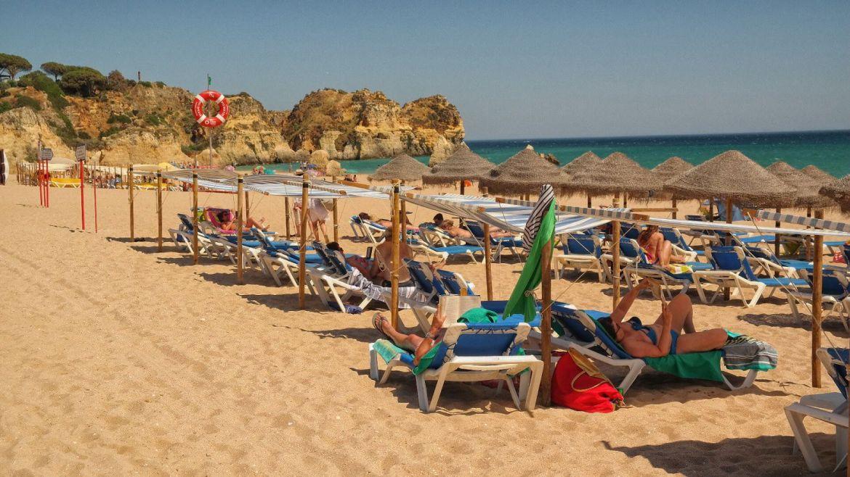 Plaża miejska Praia da Rocha Portimão Algarve zachodnie Portugalia