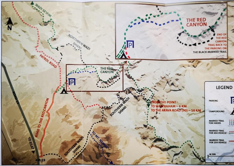 Mapa Red Caniony Eilat Izrael