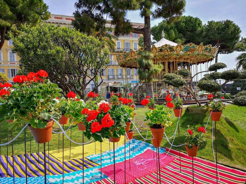 Albert 1er Garden ogród alberta pierwszego Nicea co zwiedzic i zobaczyc weekend blog park zieleń kwiaty karuzela odpoczynek