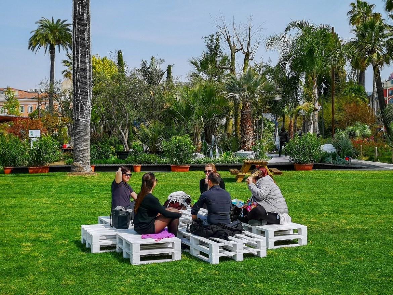 Albert 1er Garden ogród alberta pierwszego Nicea co zwiedzic i zobaczyc weekend blog park zieleń odpoczynek piknik