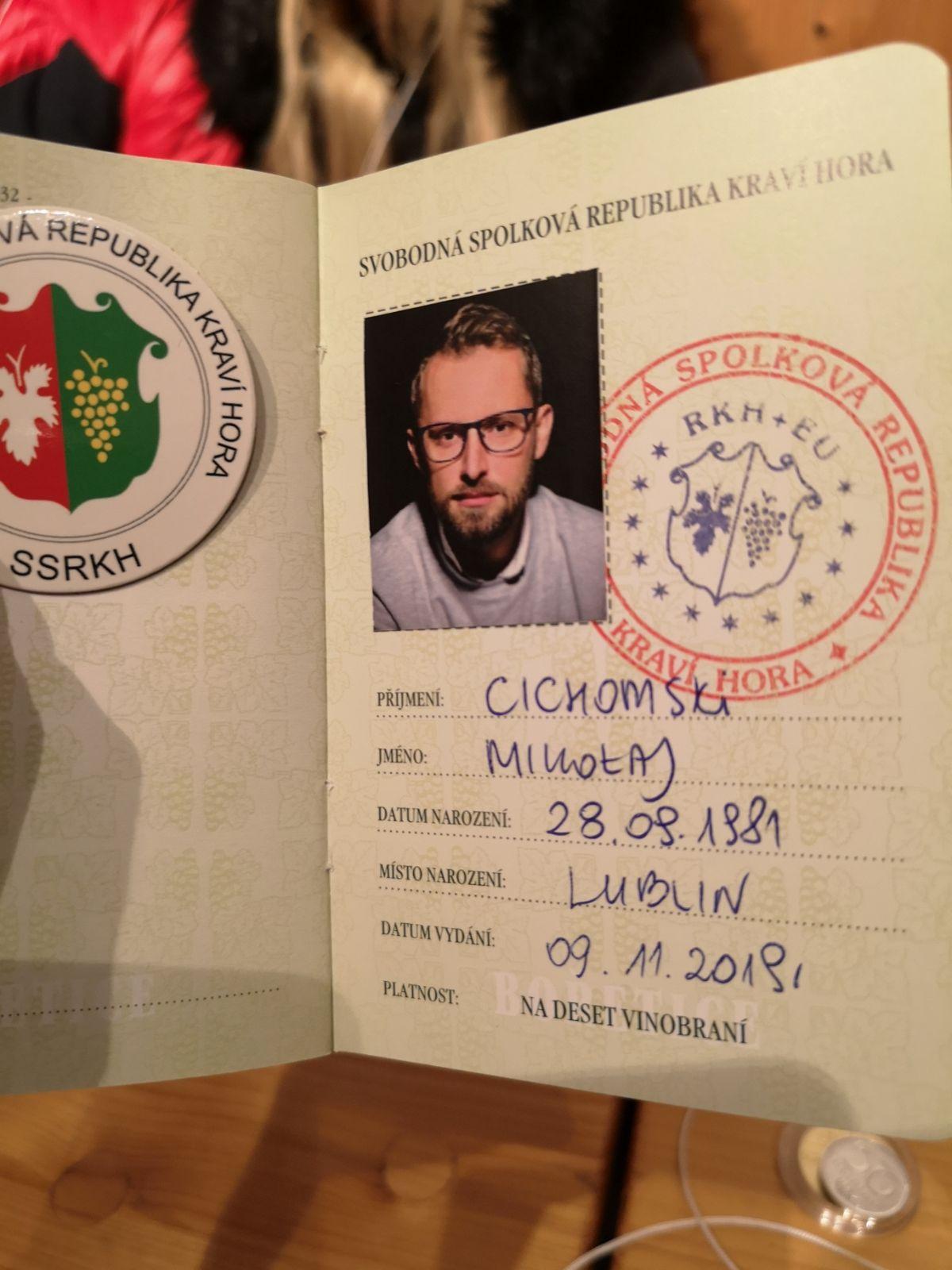 Republika Kraví Hora (Krowia Góra) paszport