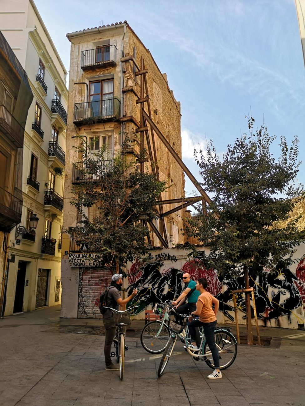 walencja stare miasto hiszpania rowery