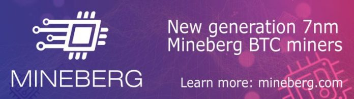 5 million USD collected in one day on pre-orders for the new generation 7nm Mineberg miners