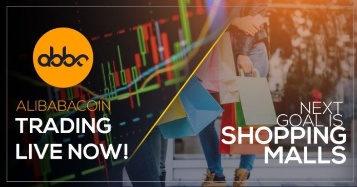 Alibabacoin Trades Live Now Extending Partnerships to Shopping Malls