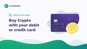 Buy Crypto with Credit or Debit card using EO.Finance