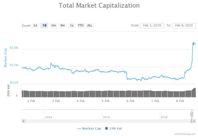 Cryptocurrency Market Gains $10 billion within 24 Hours. Is this the Bull Run?