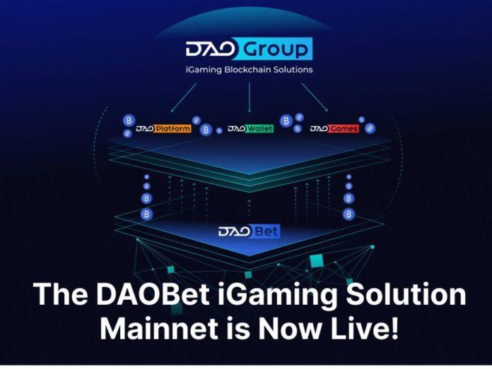 DAOBet Blockchain-Powered iGaming Platform Mainnet Now Live