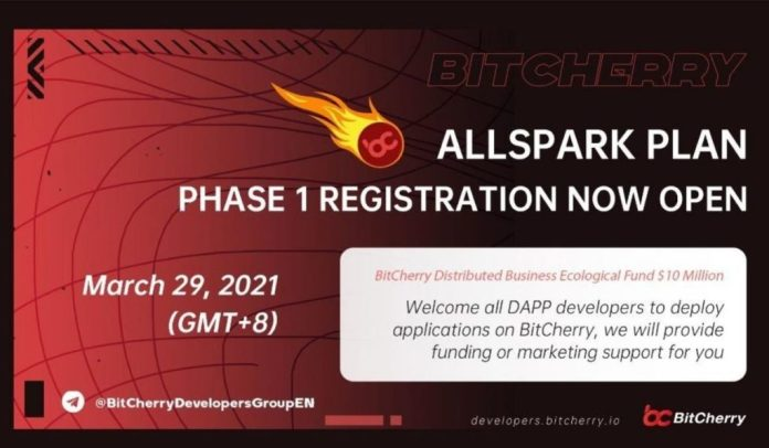"""BitCherry launches """"All Spark Plan"""" to cultivate more valuable and potential blockchain business applications"""
