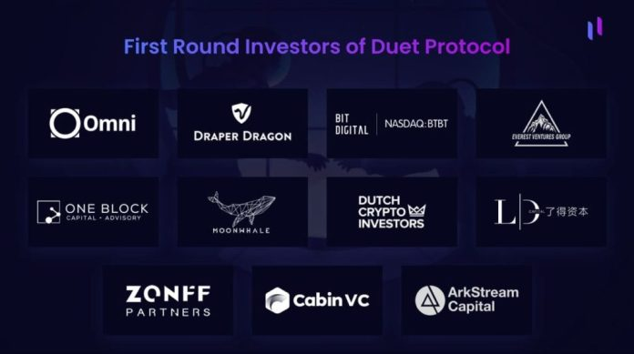 Duet Protocol Announces the End of its First Round of Funding with $3M From Strategic Investors
