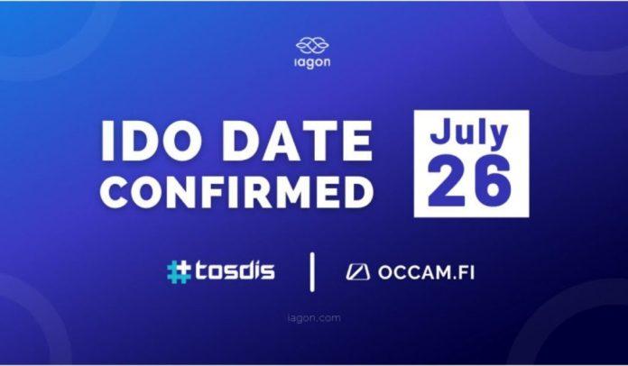 IAGON To Hold Multi-Platform IDO On Tosdis.finance and Occam.fi