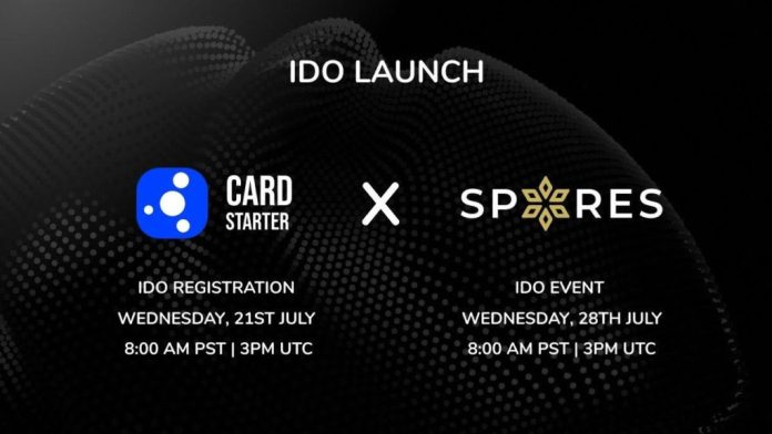 Spores Network to Launch its Initial Dex Offering (IDO) on CardStarter on July 23rd