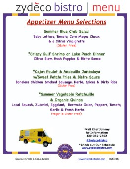 Summer Catering Menu