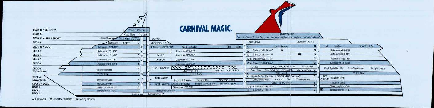 Carnival Fascination Ship Layout