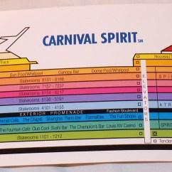 Carnival Cruise Ship Diagram Chamberlain Garage Spirit Pictorial Map
