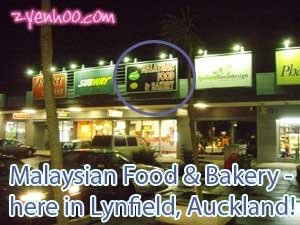 Malaysian Food & Bakery - here in Lynfield, Auckland!