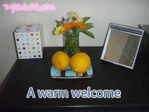 A warm welcome by my aunt