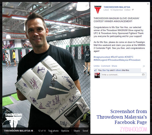 Screenshot of the announcement on Throwdown Malaysia's Facebook Page