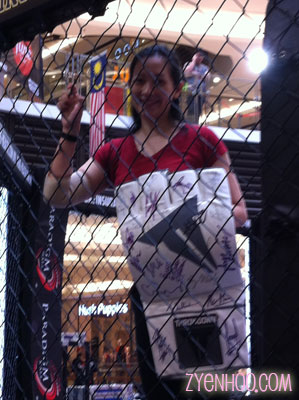 I took this shot just for fun. As proof that I've actually stepped into an MMA cage (even though I never fought!)