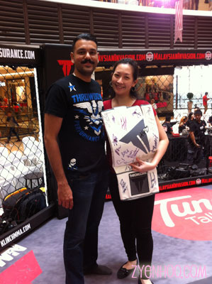 Me with Sangeet, one of the partners of Throwdown Malaysia