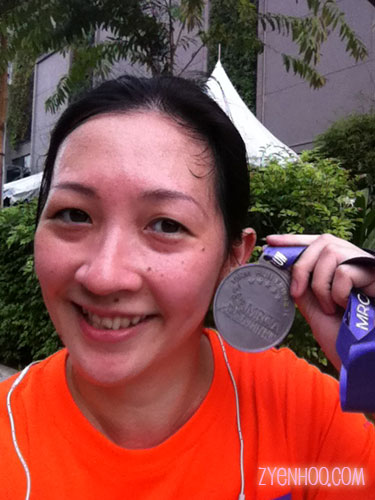 Me with my finisher medal! Yeah!!!