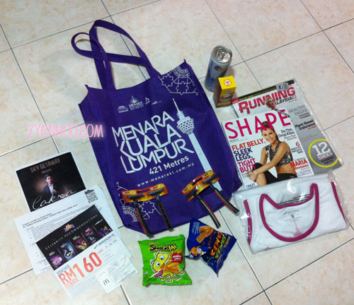 The goodie bag which came with the race pack collection