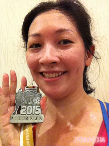 Me with my hard-earned finisher medal! I look half-dead here because I FEEL half-dead...