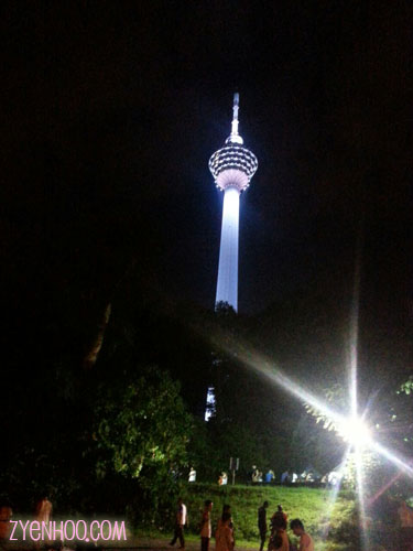 The KL Tower in the wee hours of the morning