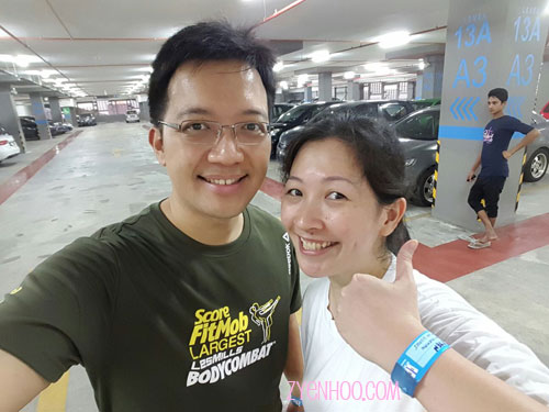 Bumped into Ken Beng in the carpark! By then I had already changed out of my sweaty shirt, so I thumbs-upped to show my wristband as proof I had been there