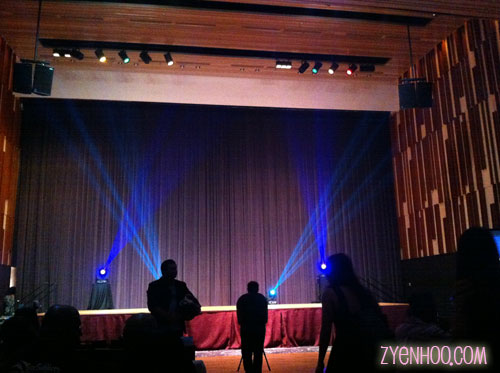 The stage in the auditorium