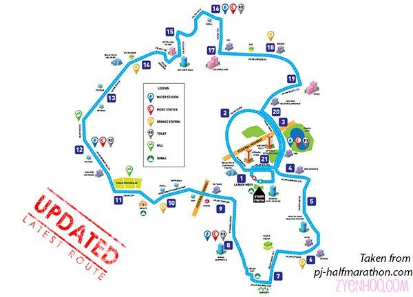 Updated 21km map