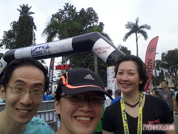 Andrew and Luan, my regular running buddies, also joined this run. Thanks for waiting for me, guys, although you finished my earlier than I did. You rock!!!
