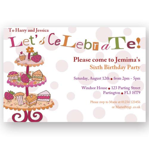 invitation editable afternoon tea party