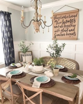 Adorable Family Dining Room Decorating Ideas 48