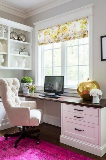 Cozy And Elegant Office Décor Ideas 10