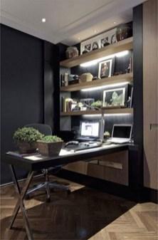 Cozy And Elegant Office Décor Ideas 24
