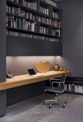 Cozy And Elegant Office Décor Ideas 29