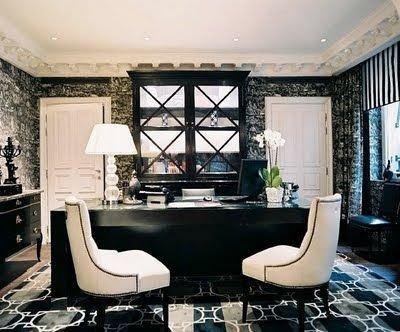 Cozy And Elegant Office Décor Ideas 36