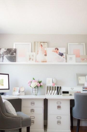 Cozy And Elegant Office Décor Ideas 38