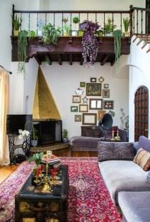 Cozy Bohemian Living Room Design Ideas 12