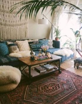 Cozy Bohemian Living Room Design Ideas 16