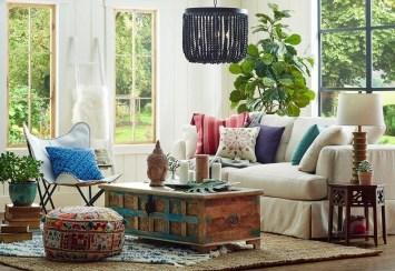 Cozy Bohemian Living Room Design Ideas 29