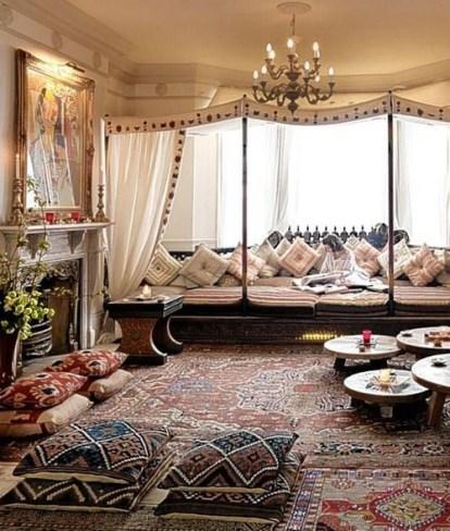 Cozy Bohemian Living Room Design Ideas 31